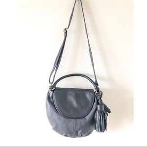 ear papillonner - Round Leather Bag